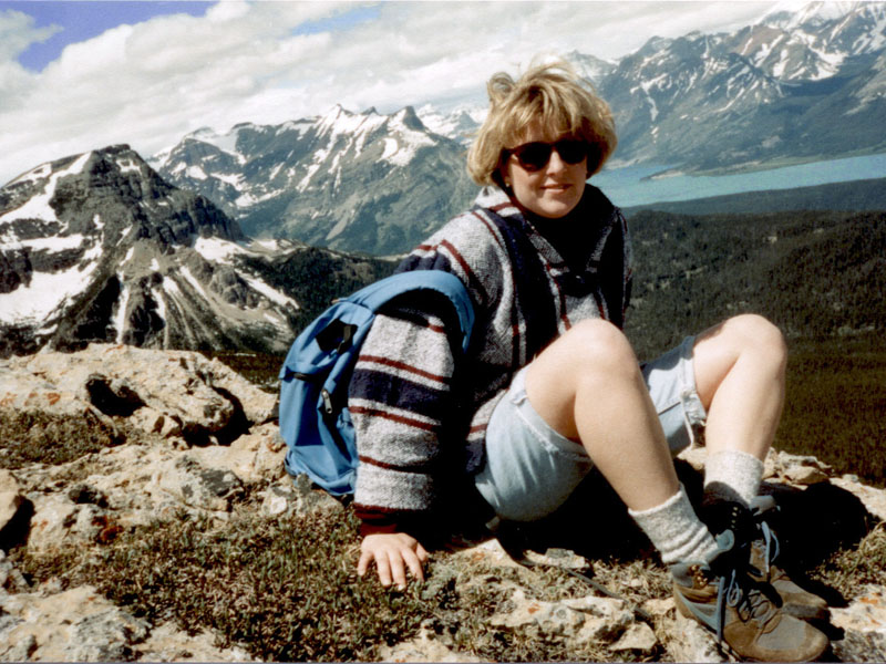 Leslie on Divide Mountain - June 1991